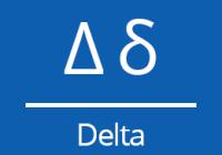 Náhled delta znak