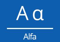 Náhled alfa znak